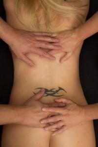 4-handen massage voor een vrouw
